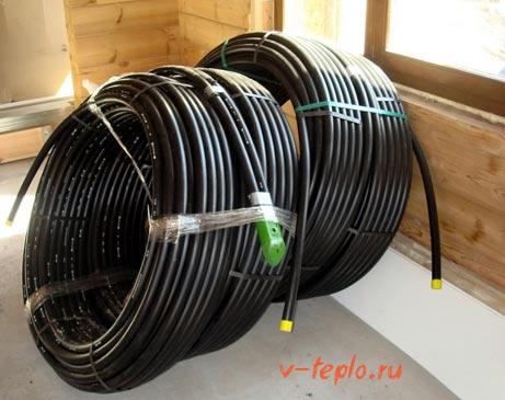 Геотермальные трубы для обмена тепла
