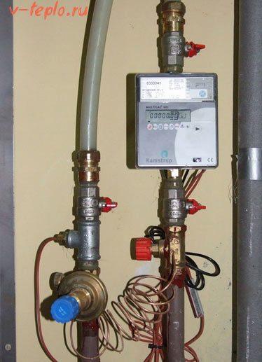 монтаж счетчика на отопление