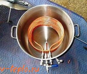 установка змеевика в бойлер косвенного нагрева