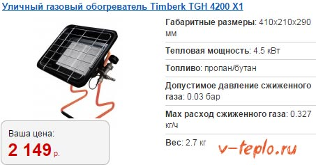 обогреватель timberk 4200 для дачи