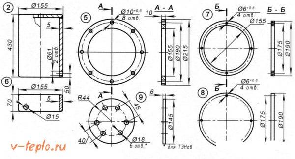 чертеж электрокотла