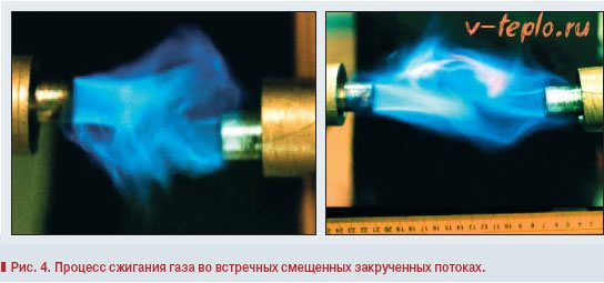 процес сжигания газа