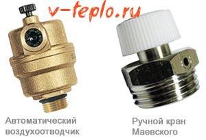 автоматический и ручной кран Маевского