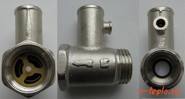 предохранительный клапан на бойлер