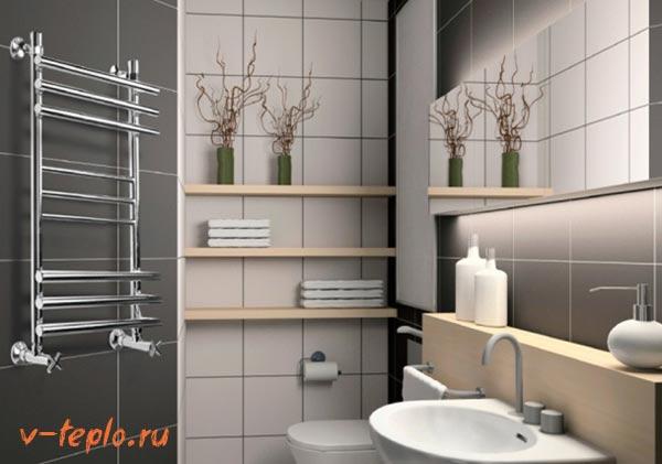 Выбор полотенцесушителя для ванны