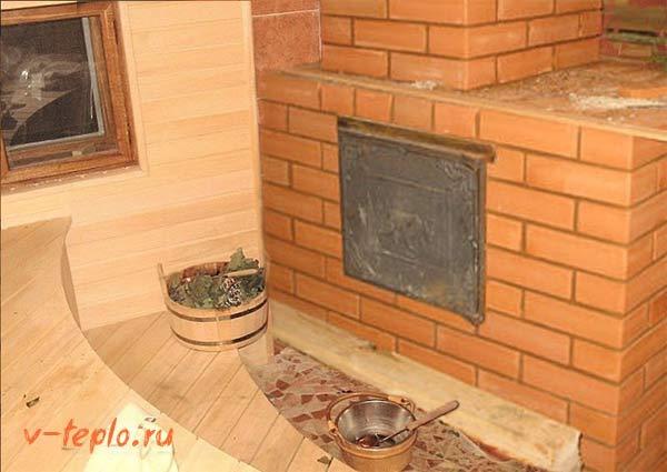 Кирпичная печь каменка для бани порядовка