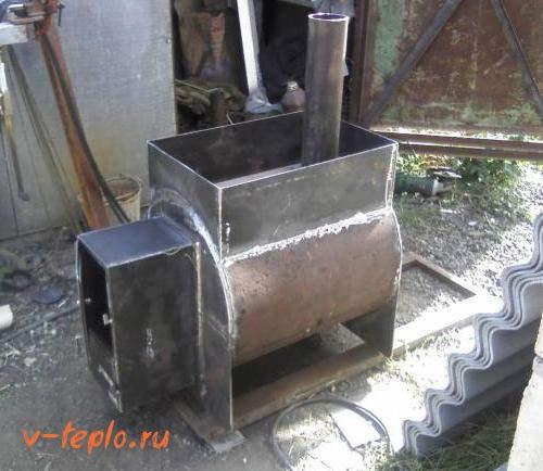 Металлическая печь каменка своими руками