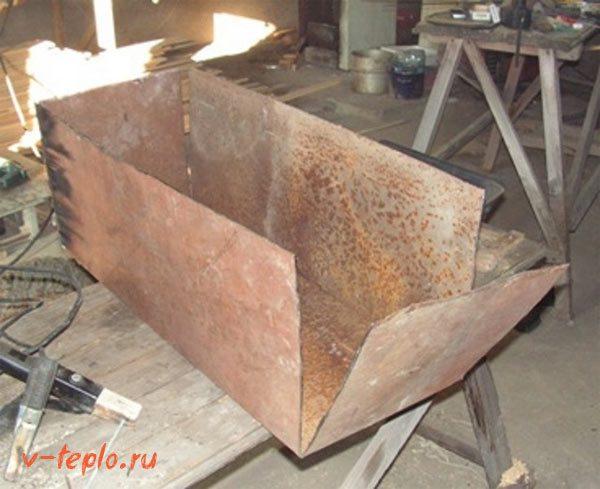 сварка стенок мангала
