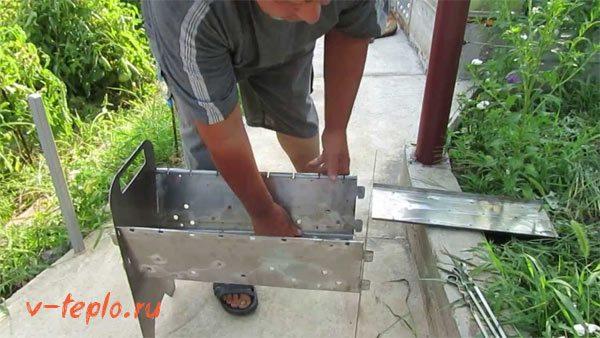 Выполняем сборку мангала