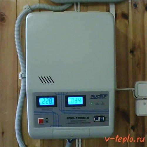 Монтаж стабилизатора для газового котла