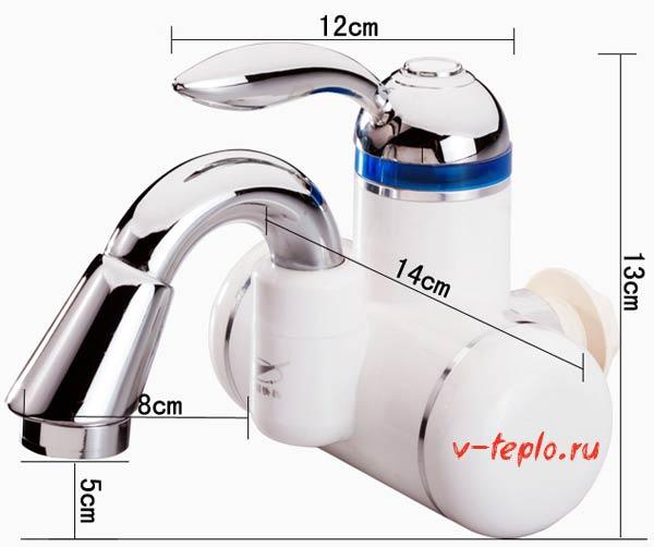 Размеры водонагревателя
