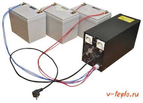 Схема подключения внешнего аккумулятора
