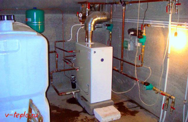установка дизельного котла Китурами