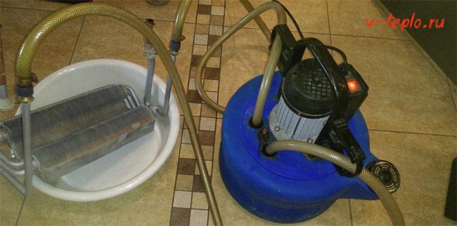 Бустер промывка теплообменника котла Кожухотрубный конденсатор Alfa Laval CRF214-5-S 2P Петрозаводск