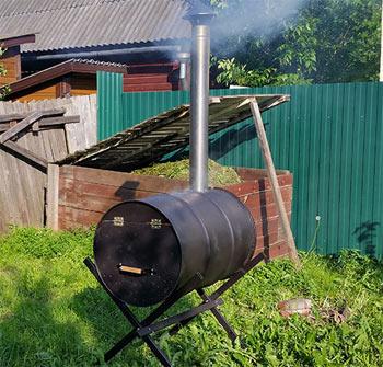 Как сделать печь для сжигания мусора на даче своими руками