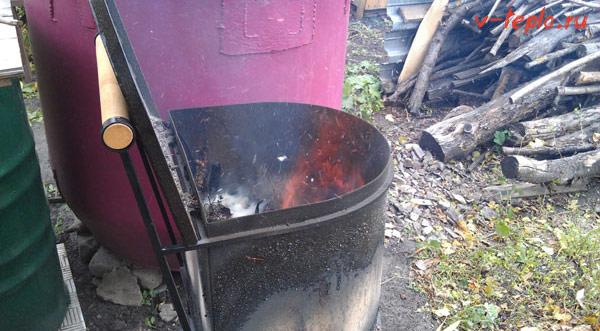 Дачная печь для сжигания мусора