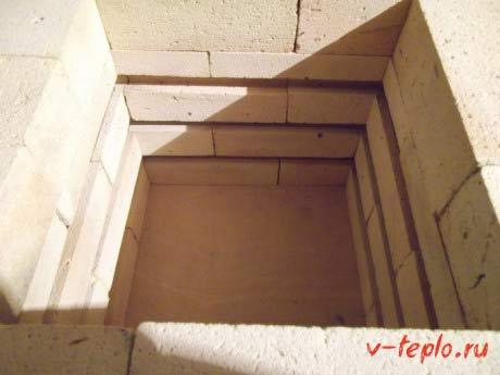 Монтаж стен из шамотного кирпича