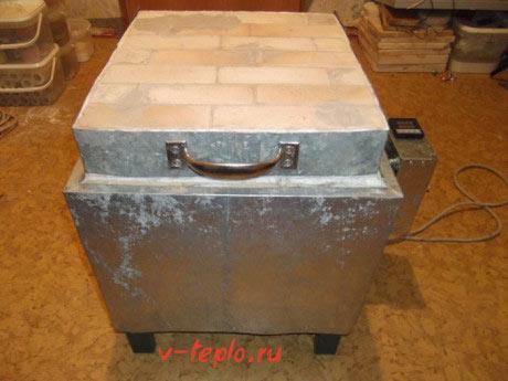 Фото готовой печи для обжига глины