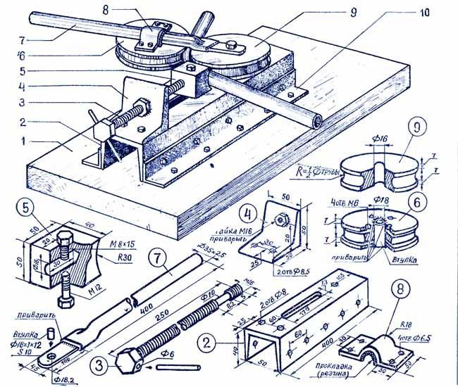 Приспособления для изготовления кованных изделий