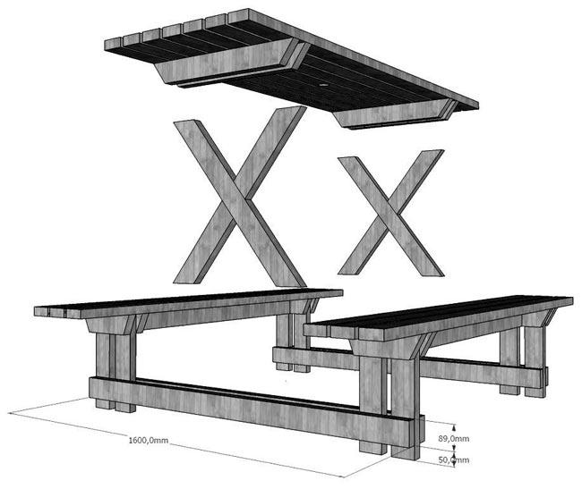 image39 Садовая скамейка для дачи своими руками