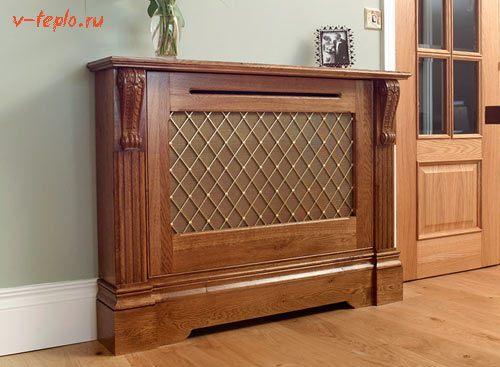 деревянная решетка для радиатора отопления