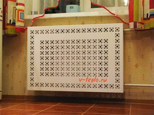 пластиковая решетка на радиатор