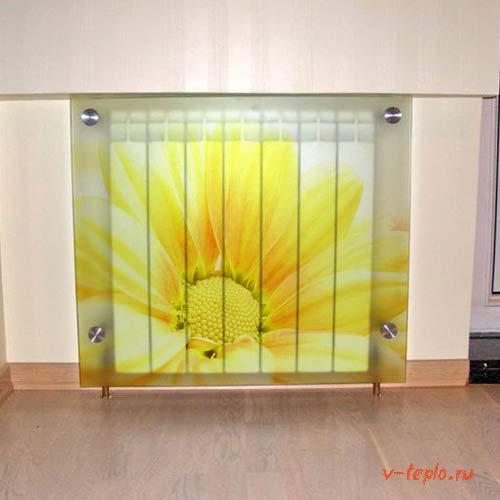 стеклянные экраны на радиаторы отопления