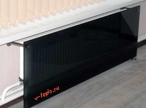стеклянная решетка на радиатор