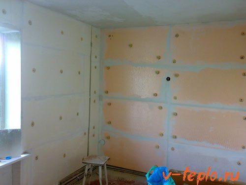 утепление стен пенополистиролом изнутри