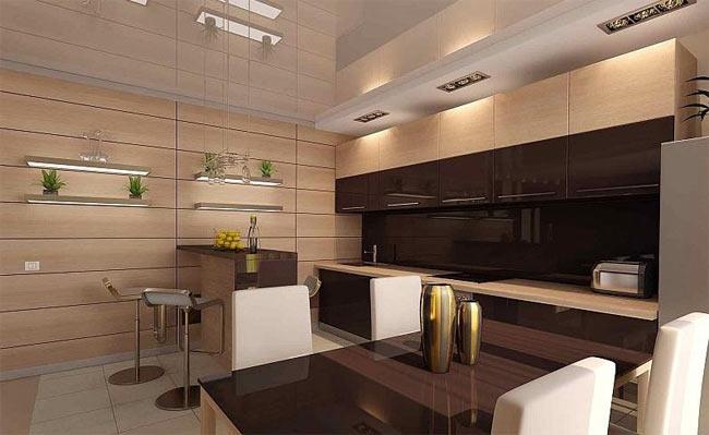 МДФ панели в интерьере кухни