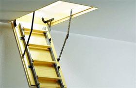 Чердачная лестница с люком на второй этаж своими руками