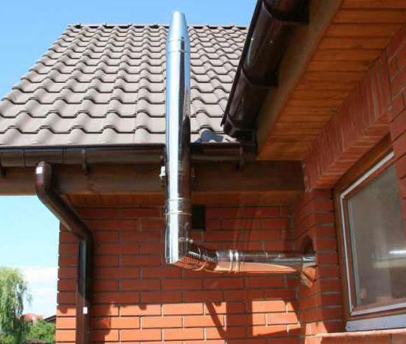 Как правильно сделать дымоход и вытяжку для газового котла в частном доме дымоход 150 переходник 145