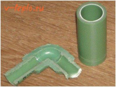 полипропиленовая труба в разрезе