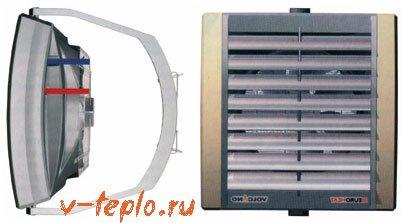 монтаж агрегата отопления