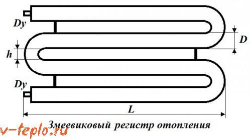 схема регистра отопления