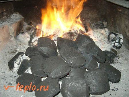 тепло от брикет