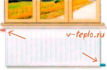 боковая схема подключения