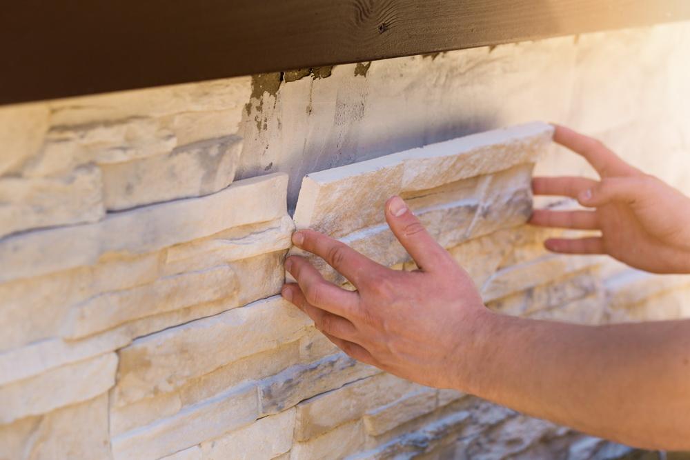 Укладка фасадной плитки на клей