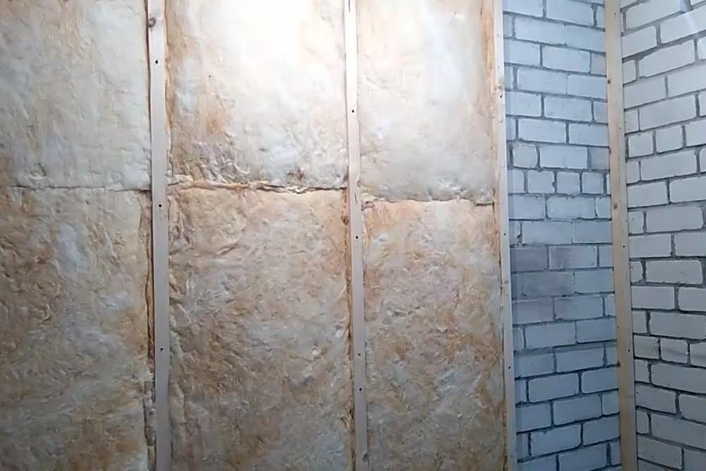 Установка минеральной ваты на стенах