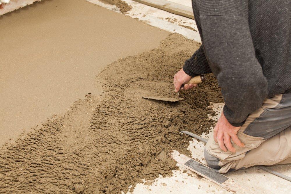 Сухая стяжка на основе цементной смеси