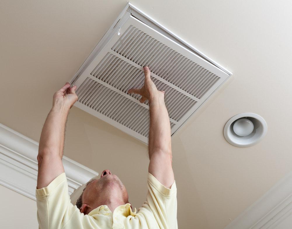Установка приточной вентиляции на потолке