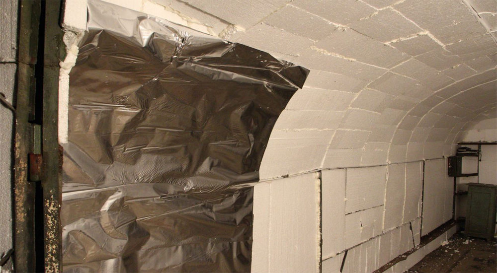 Теплоизоляция стен гаража пенопластом