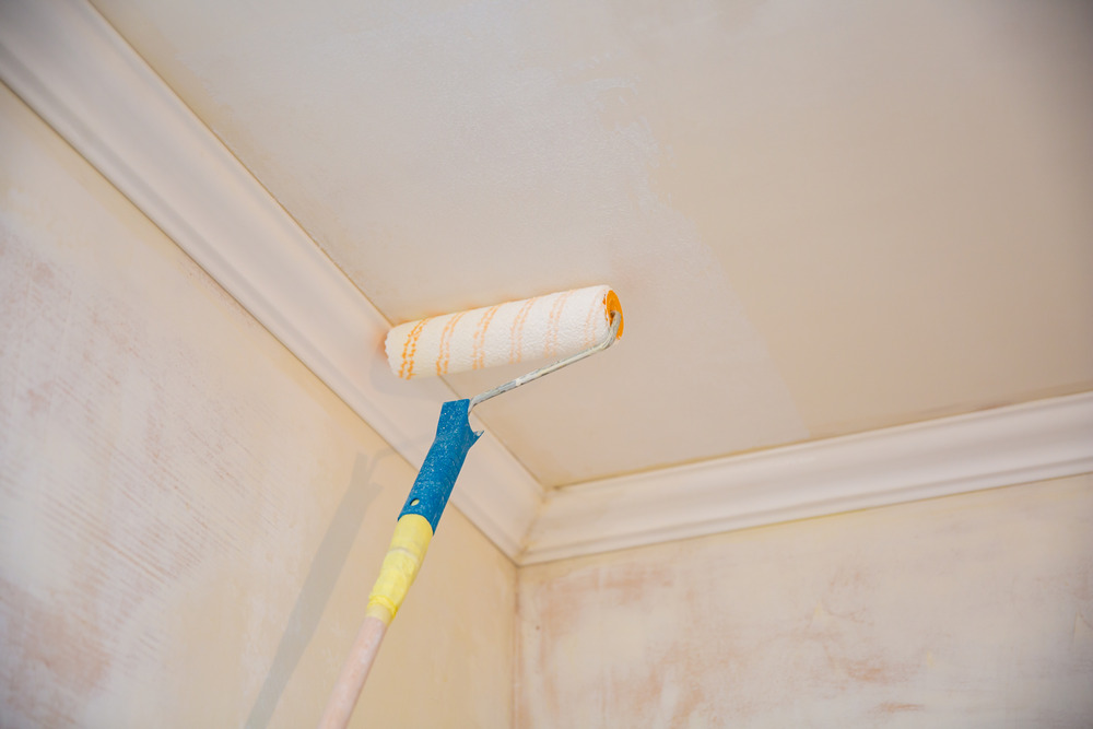Ошибки при окрашивании потолка
