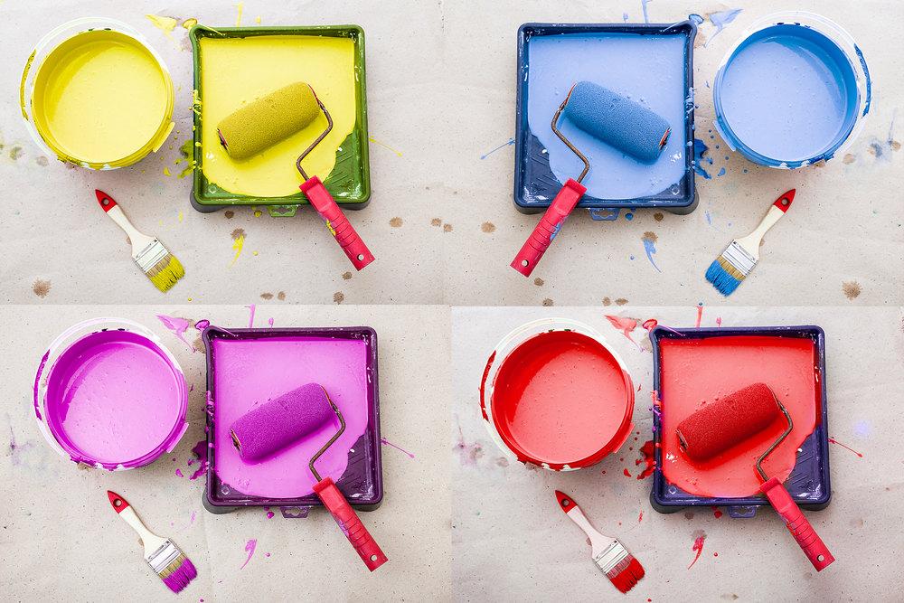 Выбор краски для окрашивания обоев