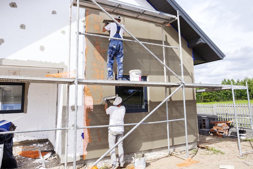 Когда можно делать установку мокрого фасада