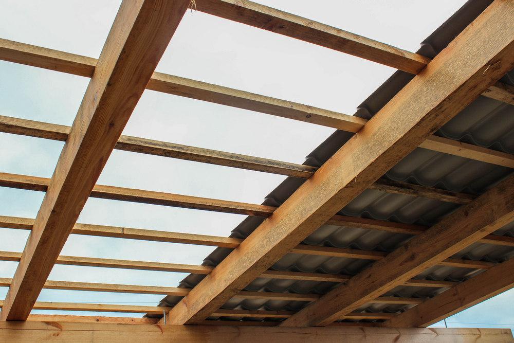 Элементы односкатной крыши